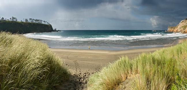 La playa de Barayo